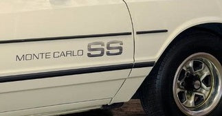 Monte Carlo SS Door & Rear Bumper Graphic Decals 1983-84 Style #decal