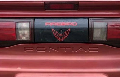 Pontiac Firebird Rear Tail Light Decal Fits 1993-1997 - Styled Text + Screaming Chicken #firebird #graphics
