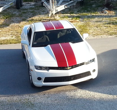 Rally Hood Decals Solid Graphic Stripe 6 Piece Set Fit 2010-2015 Chevy Camaro #camaro