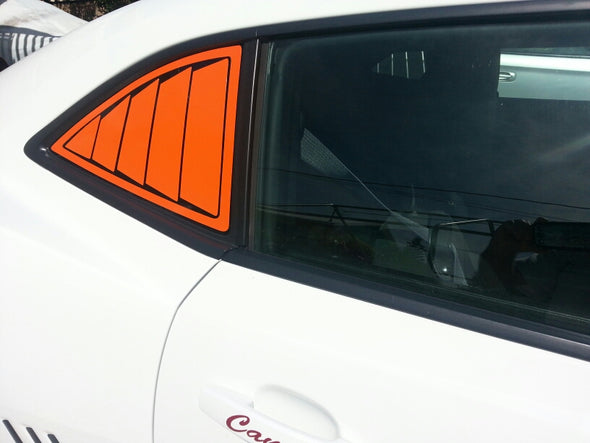 Orange Louver Style Graphic Decals Fits Camaro 2010-2015