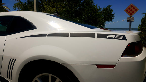 Rear Quarter Panel Graphics Decals Fits 2010-2015 Camaro RS LS SS Style A