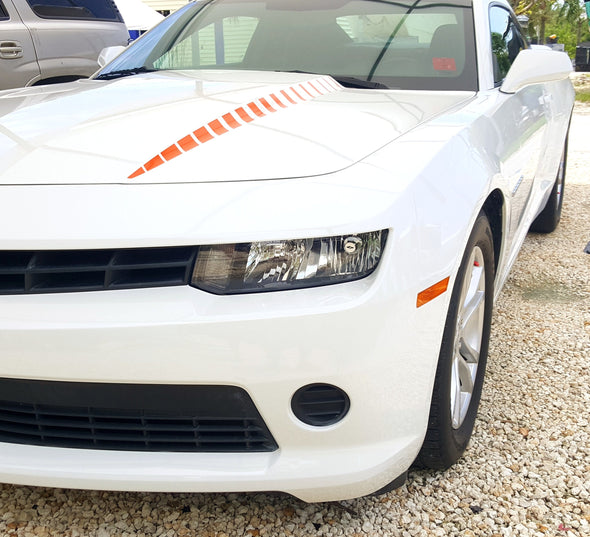 Hood Graphic Stripes New Style Fits 2010-2015 Camaro