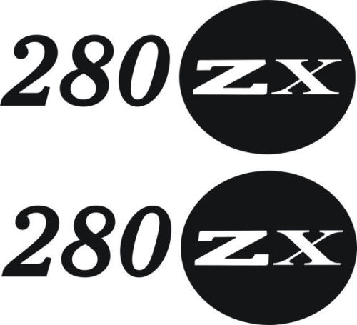 280ZX Decal Set Fits Nissan black #280zx