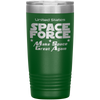 Green Space Force 20 Ounce Etched Tumbler - Make Space Great Again