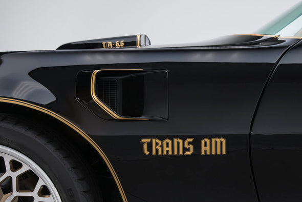 1976 - 1978 Trans Am Bandit Style Rear Wing & Fender Graphics Limited Edition German Font