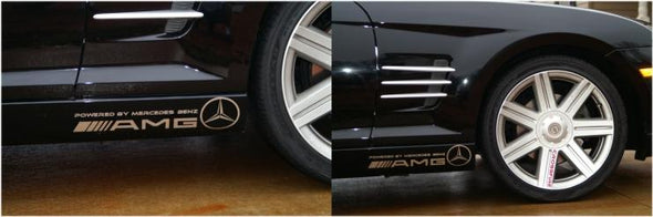AMG Powered by Mercedes Auto Decals for Crossfire