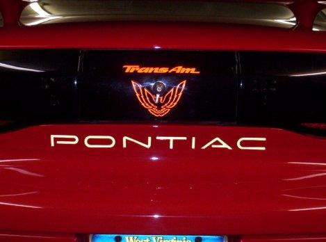 Orange Chrome Rear Tail Light Graphic Decal Fits 1993-97 Pontiac Firebird Trans Am #transam
