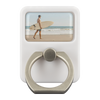Surfer Beach Stroll Metal Cell Phone & Tablet Ring Grip EDC Multi-Tool With Hook