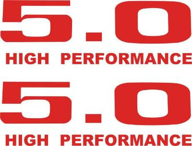 5.0 Liter High Performance Decal Set Fits Ford Mustang