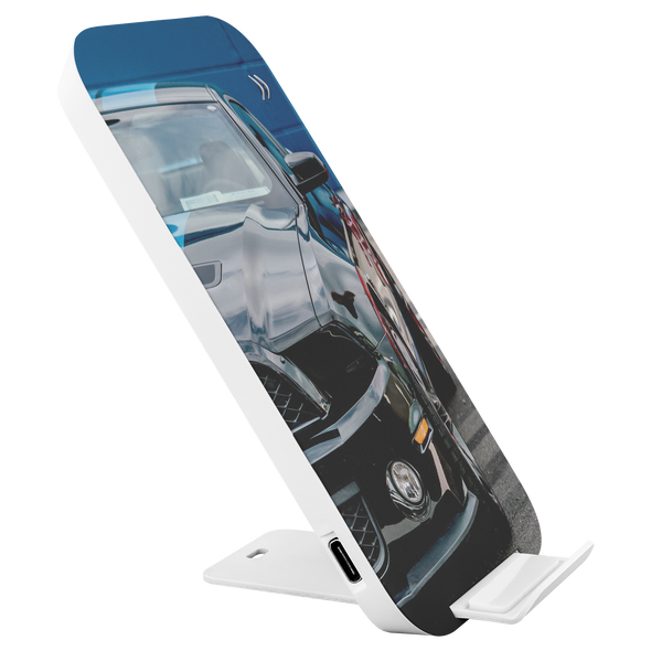 Prontimus Wireless Charging Stand with USB Cord Featuring Sports Car