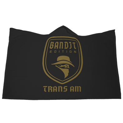 Bandit Edition Trans Am Emblem Hooded Microfiber Blanket with Mittens