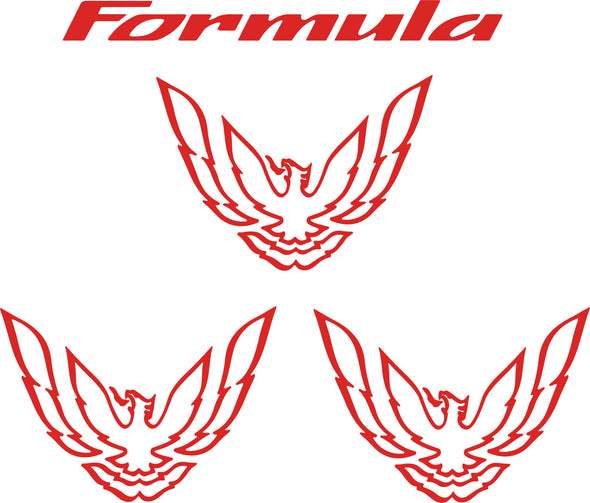 Tail Light and Sail Panel Graphic Decal Bundle Fits Pontiac Firebird Trans Am Formula 1993 to 1997 Style #pontiacfirebird