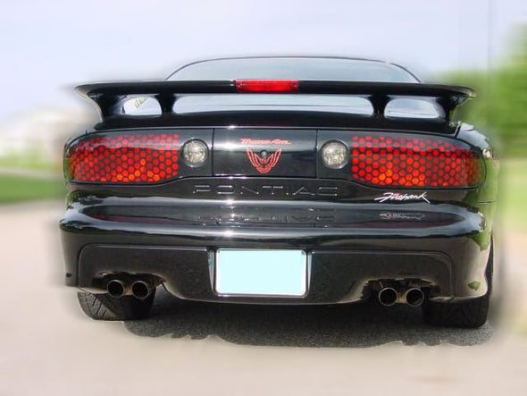 Red Rear Tail Light Decal Fits Pontiac Trans Am Firebird Formula - 1993 to 1997 Style Bird screaming chicken