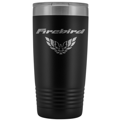 Firebird and Screaming Chicken Etched 20 Ounce Vacuum Tumbler - Multiple Color Options