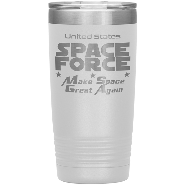 White Space Force 20 Ounce Etched Tumbler - Make Space Great Again