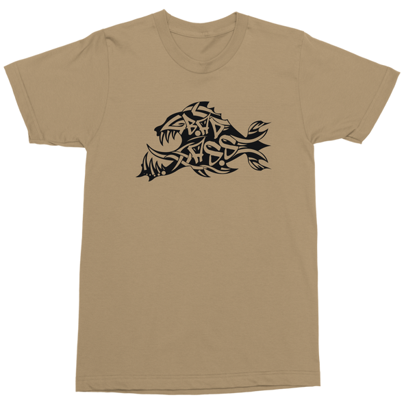 Bad Ass Tribal Fish Short & Long Sleeved Shirts ~ Military Approved Colors!