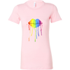 Rainbow Lips Dripping Color Bella Womens T-shirt - Multiple Sizes & Colors