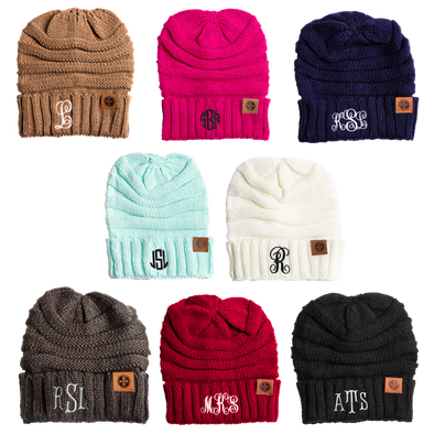 Monogram Beanie - Wear Your Initials