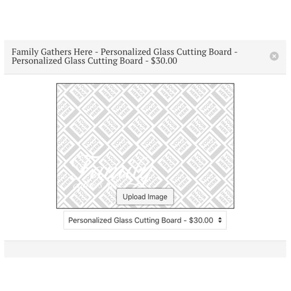 Slice & Dice Personalized Glass Cutting Board ~ Add Your Own Image!