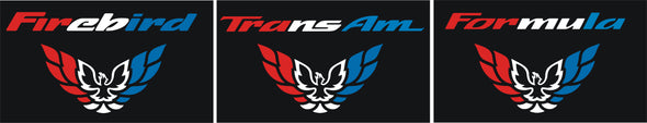 Limited Edition Patriotic Red White & Blue Tail Light Filler Decal Fits Pontiac Firebird Trans AM 1998-02 America