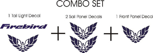 Combo Decal Set Fits Pontiac Firebird or Trans Am 98-02 Style