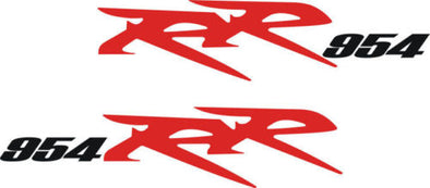 Red/Black Honda CBR 954 RR Rear Fairing Decal Set 2002-06