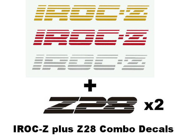 Decal Combo Set Fits Chevy IROC-Z Plus Z-28