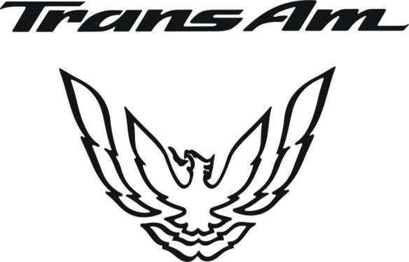 Black Rear Tail Light Decal Fits Pontiac Trans Am Firebird Formula - 1993 to 1997 Style Bird