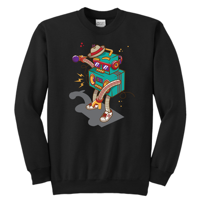 DJ Robot Youth Crewneck Sweatshirt