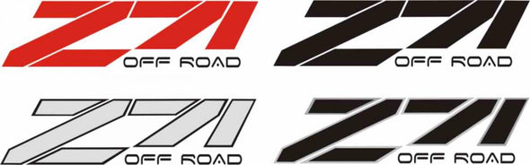 Off Road Truck Decals Fits Chevy Z71