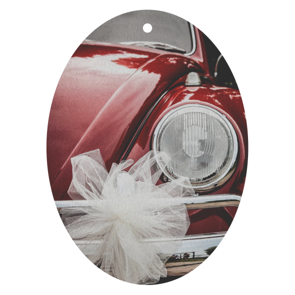 Red VW Bug With Bow Air Freshener - 3 Pack - Choice of 13 Scents
