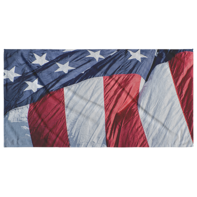 USA American Flag Stars and Stripes Beach Towel