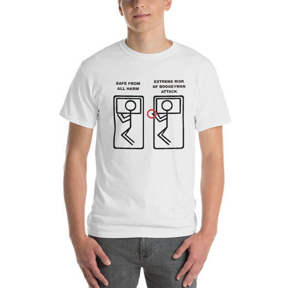 Boogeyman Alert Stick Figure T-Shirt Long or Short Sleeve custom t-shirt