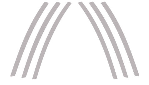 Side Vent Graphic Decal Set Fits Camaro Model Years 2010-2015
