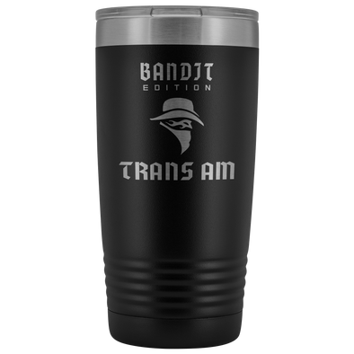 Bandit Edition Trans Am Etched 20 Ounce Vacuum Tumbler - Multiple Color Options