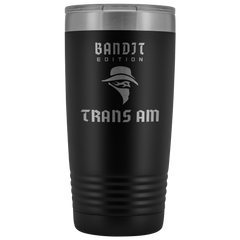 Bandit Edition Trans Am Etched 20 Ounce Stainless Steel Vacuum Tumbler - Multiple Color Options