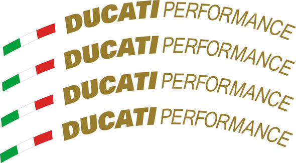 Performance Wheel, Rim Decals Set of 4 Fits Ducati ALL Models