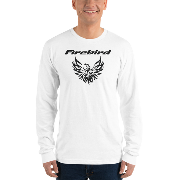 Custom Pontiac Firebird Tribal Screaming Chicken T-Shirt - White Long Sleeve