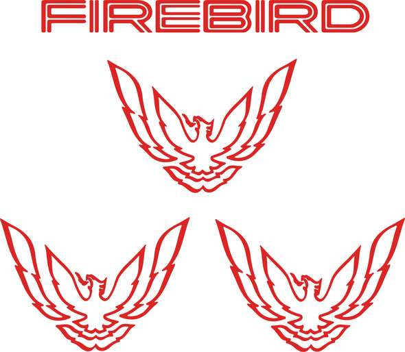 Tail Light and Sail Panel Graphic Decal Bundle Fits Pontiac Firebird Trans Am Formula 1993 to 1997 Style #firebird