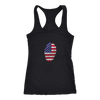 American Flag Thumbprint Racerback Womens Next Level Tank Top