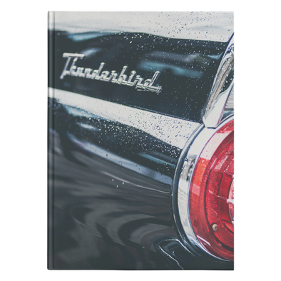 Classic Car Taillight Hardcover Journal 5.75x8 and 7x10 Sizes 150 Perforated Pages