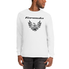 Tribal Design Screaming Chicken Pontiac Formula T-Shirt Long Sleeve White