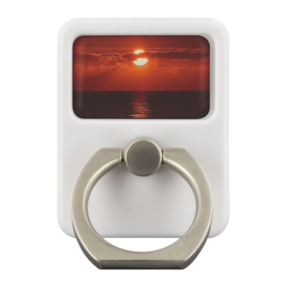Sunset Lovers Metal Cell Phone & Tablet Ring Grip EDC Multi-Tool With Hook