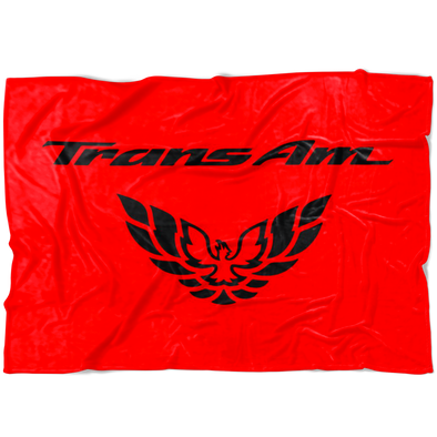 Trans Am Screaming Chicken Fleece Blanket Black/Red - Small, Medium or Large Sizes