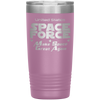 Light Pink Space Force 20 Ounce Etched Tumbler - Make Space Great Again