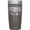 Gray Space Force 20 Ounce Etched Tumbler - Make Space Great Again