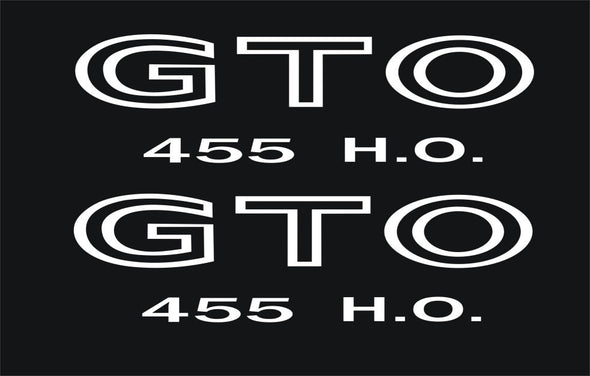 455 H.O. Decals Fits Pontiac GTO 1968-73