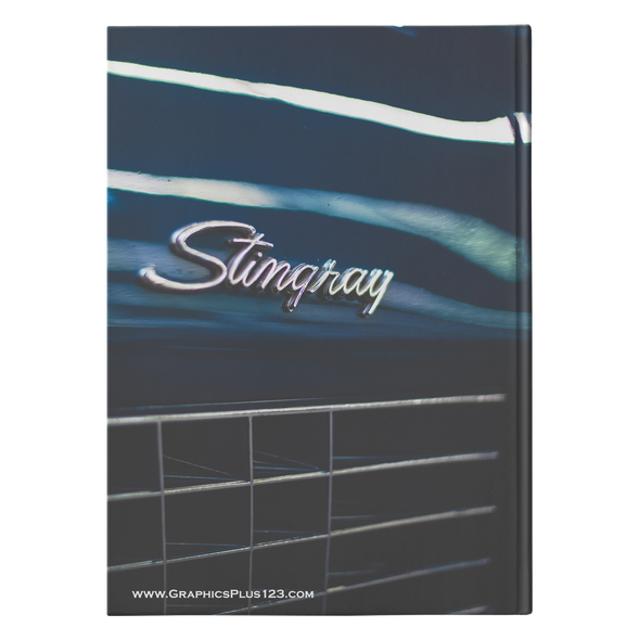 Classic Car Hardcover Journal 5.75x8 and 7x10 Sizes 150 Perforated Pages