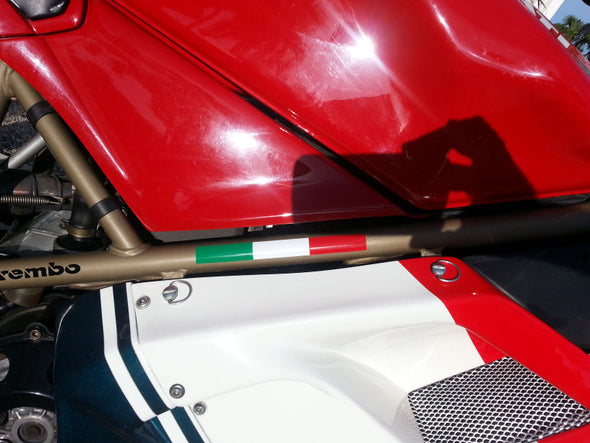 Italian Flag Frame Decal Fits Ducati