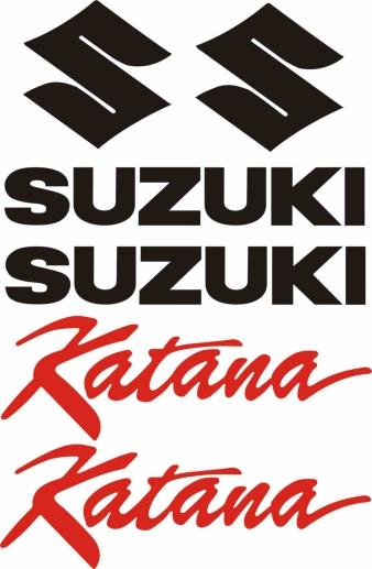 6 Vinyl Decal Set Fits Suzuki Katana